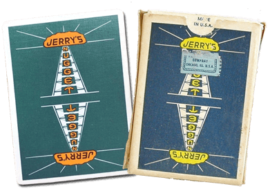 Jerry's Nugget Playing Cards printed by the Chicago card manufacturer Arrco