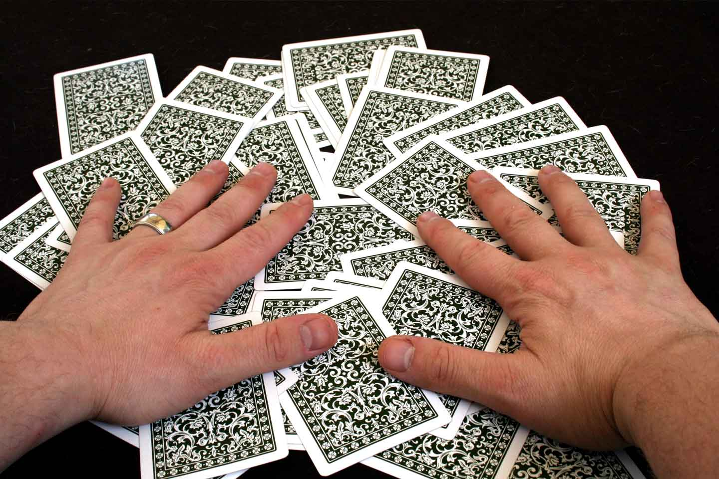 Image of Complementary card and conditioning guide detaling how to break in your playing cards