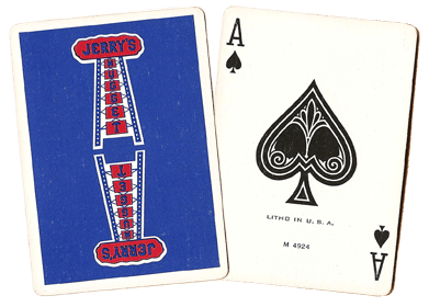 Blue and Red Jerry's Nugget Playing Cards