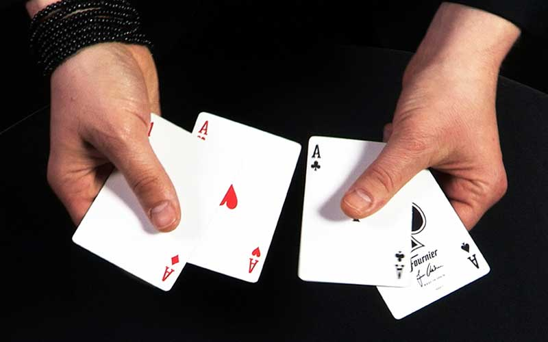 Asher Twist card trick with four aces.