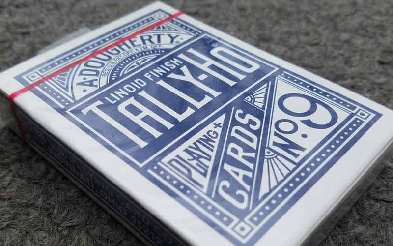 Tally Ho Circle Back Blue Seal Playing Cards by USPC