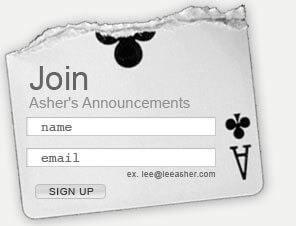 Lee Asher's Mailing List